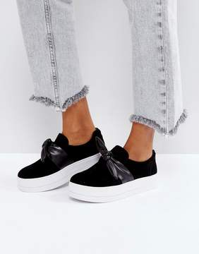 Pieces Bow Flatform Slip On Sneaker