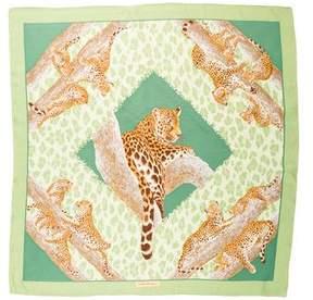 Salvatore Ferragamo Leopard Silk Scarf