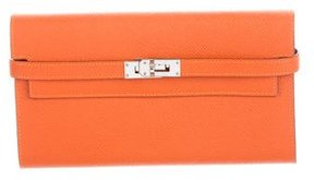 Hermes 2015 Epsom Kelly Longue Wallet - ORANGE - STYLE