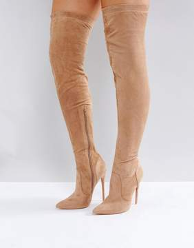 Public Desire Sonar Nude Over The Knee Boots