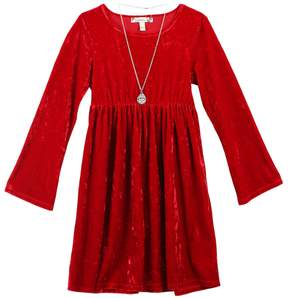 Speechless Girls 7-16 & Plus Size Velvet Dress with Necklace