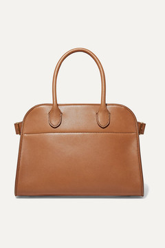 The Row Margaux 10 Buckled Leather Tote - Tan