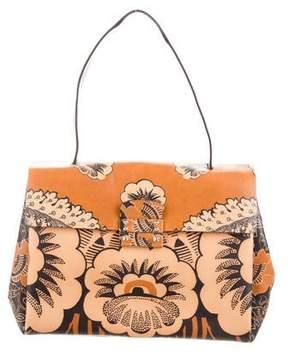 Valentino Floral Print Top Handle Bag