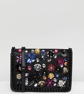 Aldo Floral Embellished Cross Body Bag