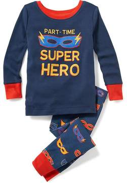 Old Navy 2-Piece Part-Time Super Hero Graphic Sleep Set for Toddler & Baby