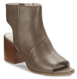 Kenneth Cole Charlo Leather Open-Toe Booties