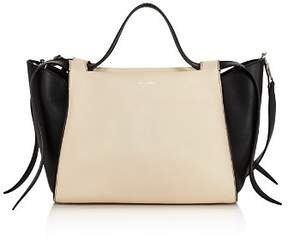 Elena Ghisellini Usonia Medium Color-Block Leather Satchel