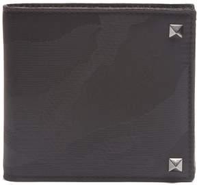 Valentino Rockstud embellished camouflage-print wallet