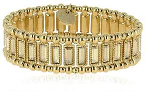 Philippe Audibert Titia Light Gold Stretch Bracelet