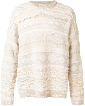 Laneus cable-knit sweater