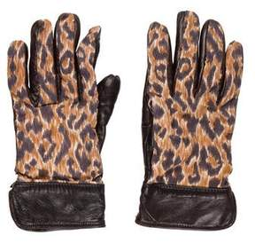 Dolce & Gabbana Printed Leather Gloves