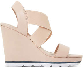 Dune Kalifornia cross-strap wedge sandals
