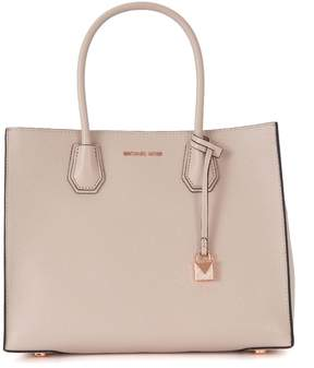 Michael Kors Mercer Messenger Pink Tumbled Leather Shoulder Bag - ROSA - STYLE