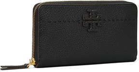 Tory Burch McGRAW ZIP CONTINENTAL WALLET - BLACK - STYLE