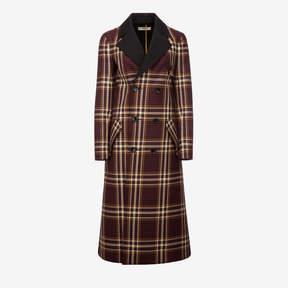 Bally Long Tartan Coat