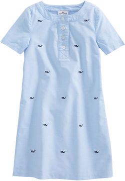Vineyard Vines Girls Embroidered Oxford Shirt Dress