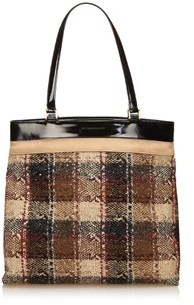 Burberry Pre-owned: Wool Tote Bag. - BROWN X BEIGE X BLACK - STYLE