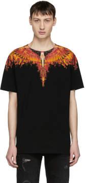Marcelo Burlon County of Milan Black Flame Wing T-Shirt