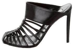 Altuzarra Leather Cage Mules w/ Tags
