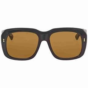 Gucci Fashion Brown Square Ladies Sunglasses GG0049S-001 57