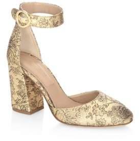 Michael Kors Rena Shimmery Ankle Strap Pumps