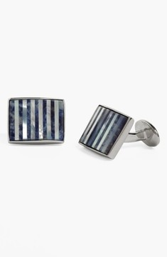David Donahue Men's Mother Of Pearl & Sodalite Cuff Links