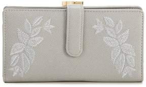 Kate Landry Tonal Floral Frame Wallet