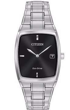 Citizen Men's Dress AU1070-58E Silver/Black Analog Eco-Drive Men's Watch