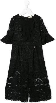 Elisabetta Franchi La Mia Bambina lace jumpsuit