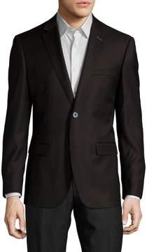 English Laundry Men's Wool Notch Lapel Sportcoat