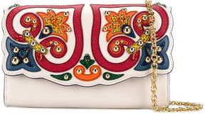 Dolce & Gabbana Majolica appliqué shoulder bag