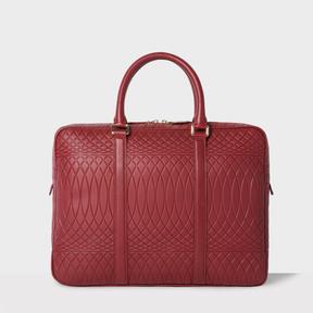 Paul Smith No.9 - Brick Red Leather Slim Business Folio