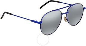 Fendi Silver Aviator Sunglasses FF 0222/S PJP/T4