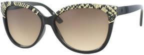 Kay Unger Black Joelle Cat-Eye Sunglasses