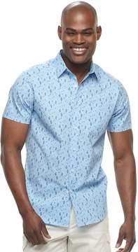 Apt. 9 Men's Slim-Fit Patterned Stretch Button-Down Shirt