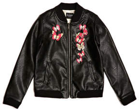 GUESS Embroidered Faux-Leather Bomber (7-16)