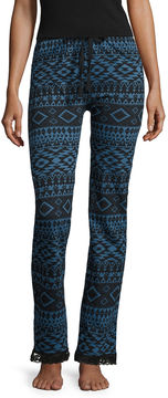 Asstd National Brand Knit Pattern Pajama Pants-Juniors