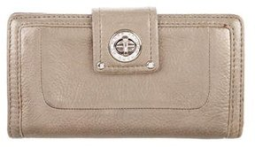 Marc by Marc Jacobs Metallic Continental Wallet - BROWN - STYLE