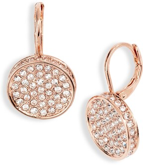 Vince Camuto Pave Disc Drop Earrings