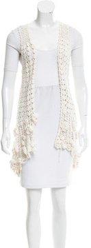 Calypso Sleeveless Open Knit Cardigan
