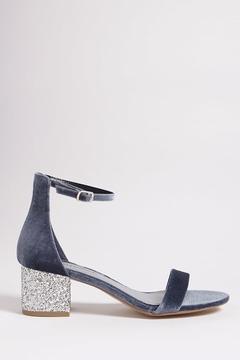 Forever 21 Velvet Glitter Heels