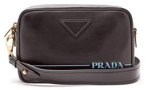 Prada Mirage Leather Cross Body Bag - Womens - Black
