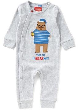 Joules Baby Boys Newborn-24 Months Fife Bear Long-Sleeve Coverall