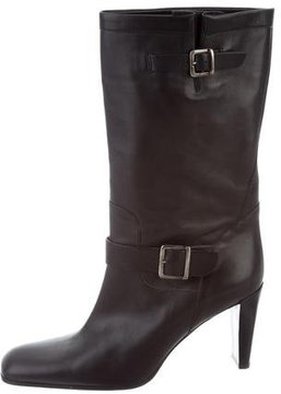 Calvin Klein Collection Leather Square-Toe Boots