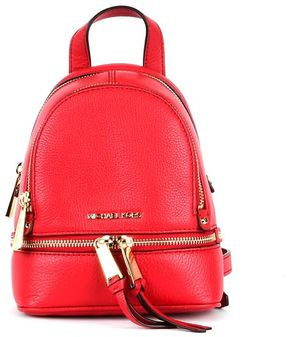 MICHAEL Michael Kors Red Leather Backpack - RED - STYLE