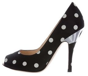 Moschino Polka Dot Peep-Toe Pumps