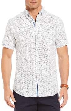 Daniel Cremieux Slim-Fit Shark Print Short-Sleeve Woven Shirt