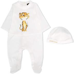 Roberto Cavalli tiger print babygrow set