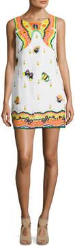 Calypso St. Barth Women's Yantra Linen Embroidered Mini Dress
