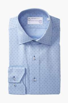 Lorenzo Uomo Woven Dot Dress Shirt